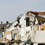 House damaged by stormy weather