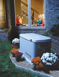 A Generac Guardian Installed outside a home.