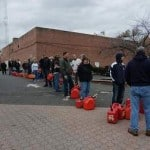 Photographer Jim Occi captured these photos of gas lines in Cranford on Thursday following Hurricane Sandy.