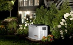Generac Standby Generator Providing Power during a Power Outage