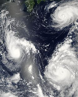 Satellite imagery of tropical cyclones