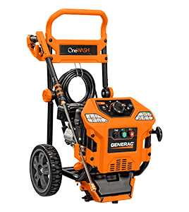 Generac OneWash with Variable Pressure from 2000 to 3000 PSI