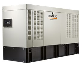 The Generac Protector with integrated base tank.