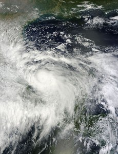 Image by NASA of Hurricane Ingrid