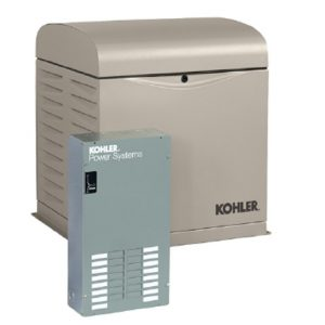 Kohler 12kW Air Cooled Standby Generator Package with 100 Amp 12 Circuit ATS