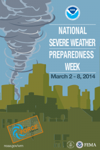Poster from the FEMA/NOAA severe weather preparedness campaign.