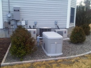 A standby generator ready to automatically provide power during an outage.