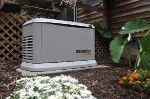 A Generac Guardian Standby Generator installed outside a home.
