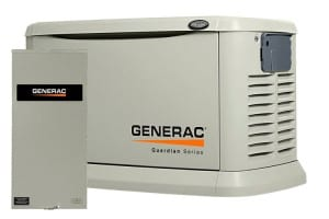 22kW Guardian Standby Generator shown with Generac's Smart Switch ATS