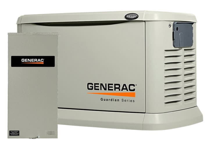 Guardian Standby Generator shown with Generac's Smart Switch ATS