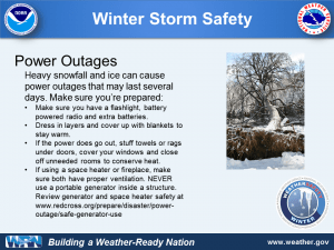 What to Do in a Power Outage by NOAA NWS