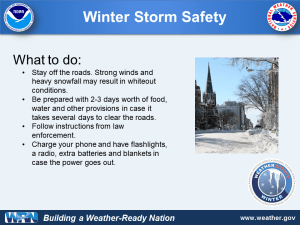 What to do in a winter in a winter storm