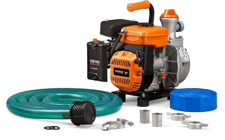 All Inclusive Kit Includes 10 foot suction hose, 25 foot discharge hose, strainer and connectors.
