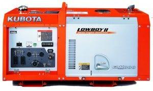 Kubota's Lowboy diesel generator