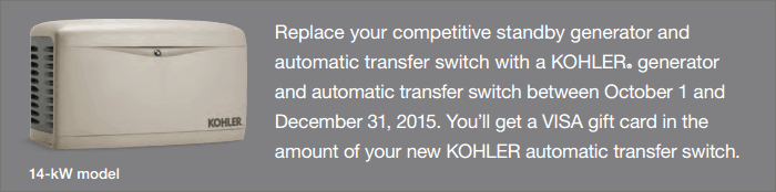 Upgrade and Save Today with a Kohler Generator