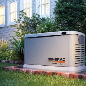 Generac Guardian outside a home