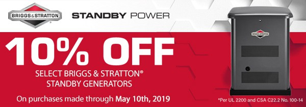 #HurricanePrep Briggs and Stratton Standby Generator Sale 10% Off