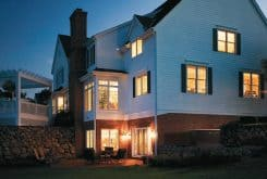 Home at night powered by a Briggs & Stratton Standby Generator