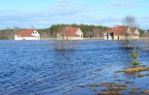 Flood Waters Inundate Home