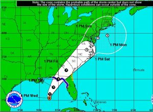 Tropical Storm Hermine Graphic