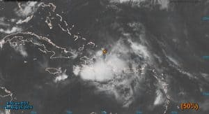 Satellite image of tropical wave