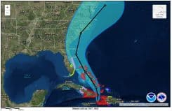 Hurricane Matthew Storm Track Projection