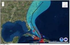 Hurricane Matthew Storm Track Projection