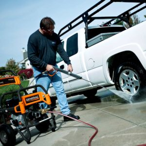 Generac 4200 PSI Pro Grade Pressure Washer Cleaning Truck Tires