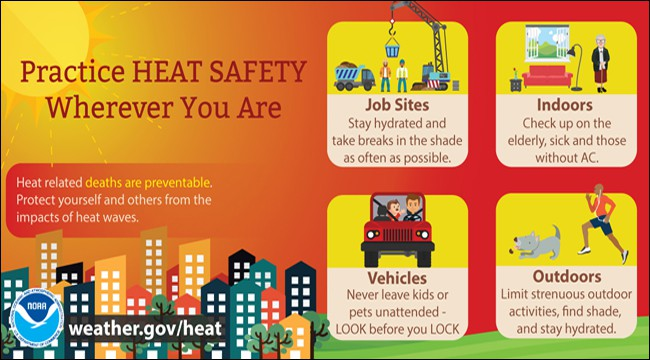 Practice Heat Safety Wherever You Are Infographic