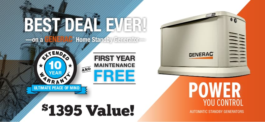 The Best Deal Ever on a Generac Home Standby Generator