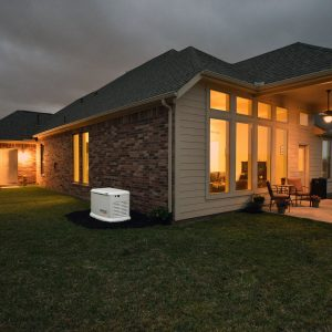 Generac Home Standby Generator model 7032 supplying power during an outage.