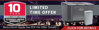 Briggs and Stratton 10-Year Extended Warranty Offer