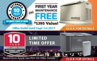 End-of-Summer Savings: Free Extended Warranties on Standby Generators