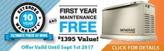 Generac 10-Year extended warranty - The best deal ever on a standby generator.