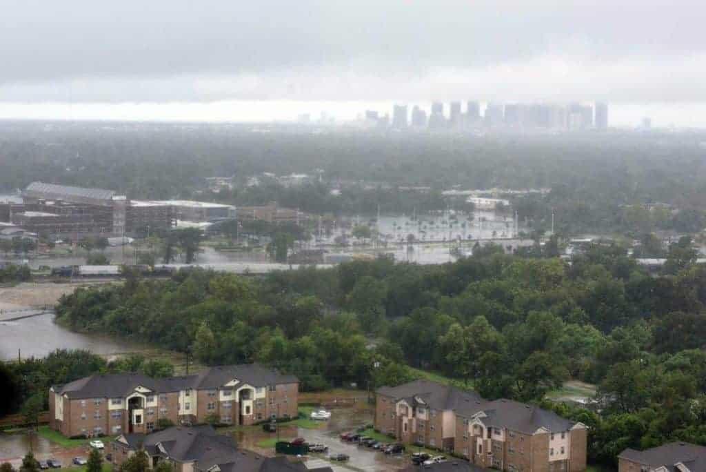 Flood waters in Houston