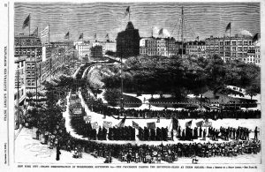 The first labor day parade in 1882