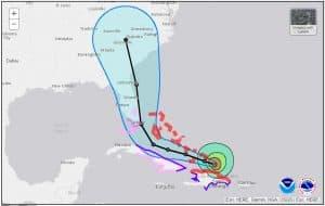 National Hurricane Center Forecast Track and Cone for Major Hurricane Irma