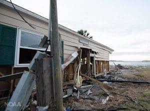 A Florida Home Damaged During Hurricane Matthew