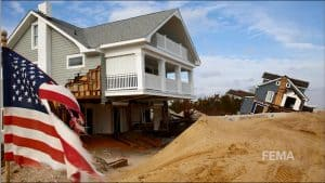 Houses Damaged by Sandy in Long Branch New Jersey