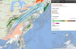 Google Crisis Response Team Hurricane Nate Alert Area.