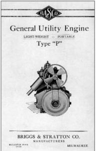 Vintage Type P Motor Manual Briggs and Stratton