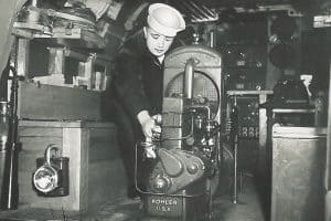 Kohler Generator on a Navy Ship during WW II