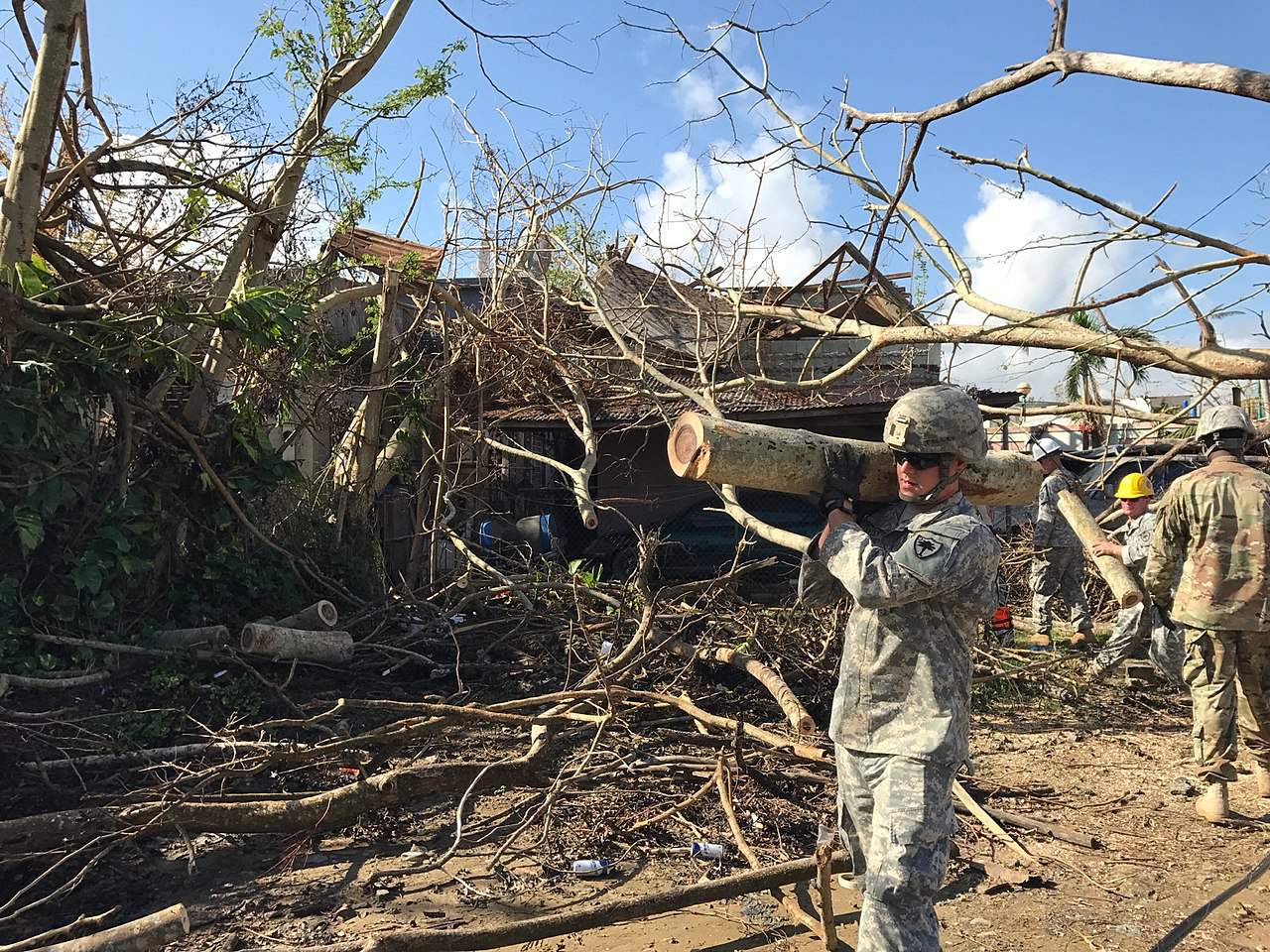 SC National Guard Clean up In Puerto Rico