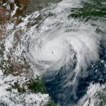 Satellite Image of Category 4 Harvey Just Prior to Lanfall