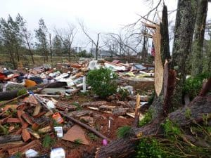 Home leveled by a Tornado in Hattiesburg