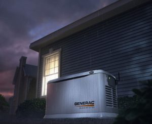 Generac 22 Kilowatt Home Backup Generator During a Power Outage