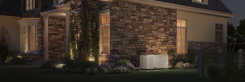 A Kolher Liquid Cooled Standby Generator Installed at a Home