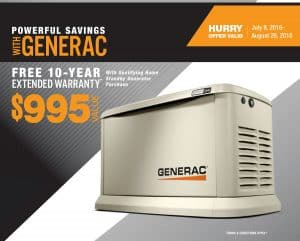 Generac Guardian Free 10-Year Extended Warranty