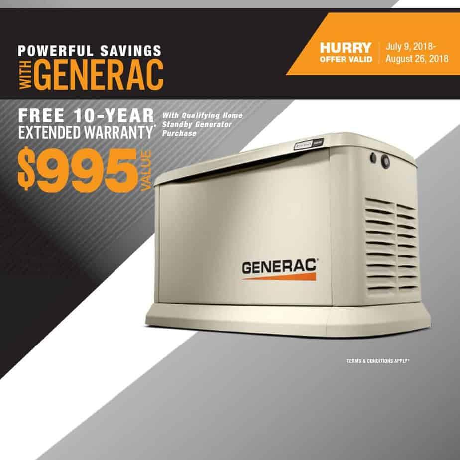 Powerful Savings: Generac Free 10-Year Extended Standby Warranty
