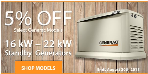 5% Off Select Guardian Backup Generators